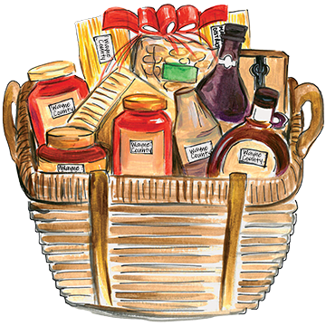 apple tour gift basket